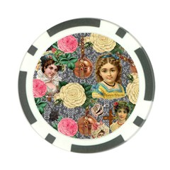 Damask Religious Victorian Grey Poker Chip Card Guard