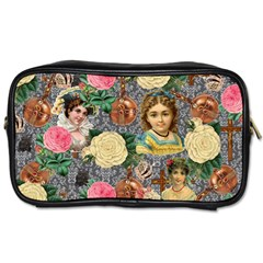 Damask Religious Victorian Grey Toiletries Bags