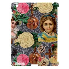 Damask Religious Victorian Grey Apple Ipad 3/4 Hardshell Case (compatible With Smart Cover)