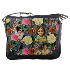 Damask Religious Victorian Grey Messenger Bags