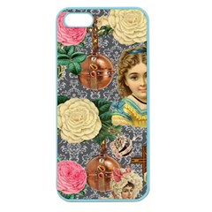 Damask Religious Victorian Grey Apple Seamless Iphone 5 Case (color)