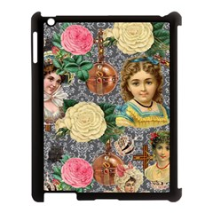 Damask Religious Victorian Grey Apple Ipad 3/4 Case (black)
