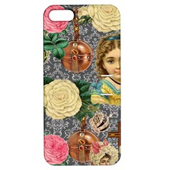Damask Religious Victorian Grey Apple Iphone 5 Hardshell Case With Stand