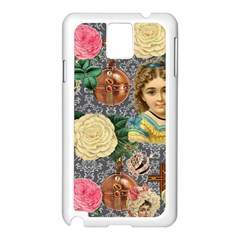 Damask Religious Victorian Grey Samsung Galaxy Note 3 N9005 Case (white)
