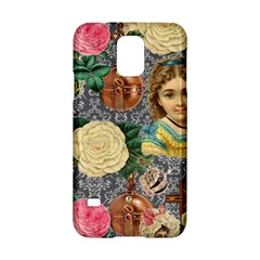 Damask Religious Victorian Grey Samsung Galaxy S5 Hardshell Case