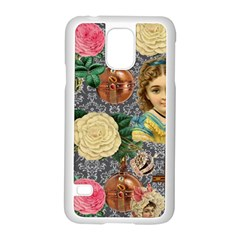 Damask Religious Victorian Grey Samsung Galaxy S5 Case (white)