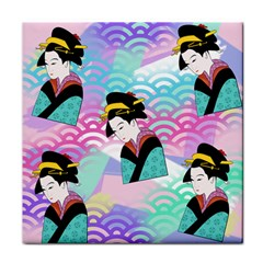 Japanese Abstract Tile Coasters