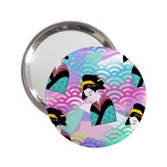 Japanese Abstract 2 25  Handbag Mirrors