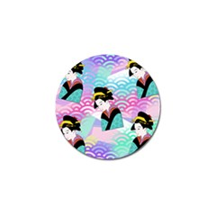 Japanese Abstract Golf Ball Marker (4 Pack)