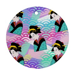 Japanese Abstract Round Ornament (two Sides)