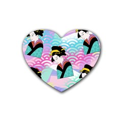 Japanese Abstract Heart Coaster (4 Pack)