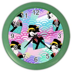 Japanese Abstract Color Wall Clocks