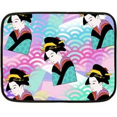 Japanese Abstract Fleece Blanket (mini)