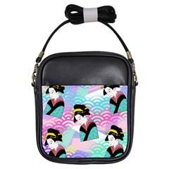 Japanese Abstract Girls Sling Bags