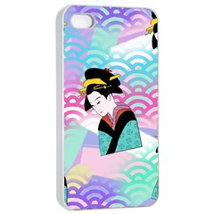 Japanese Abstract Apple Iphone 4/4s Seamless Case (white)