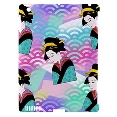 Japanese Abstract Apple Ipad 3/4 Hardshell Case (compatible With Smart Cover)