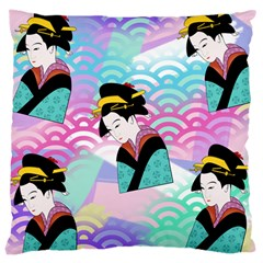 Japanese Abstract Large Cushion Case (one Side)
