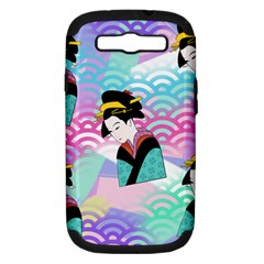Japanese Abstract Samsung Galaxy S Iii Hardshell Case (pc+silicone)