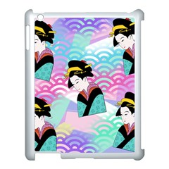 Japanese Abstract Apple Ipad 3/4 Case (white)