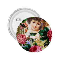 Little Girl Victorian Collage 2 25  Buttons