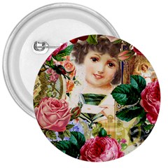 Little Girl Victorian Collage 3  Buttons
