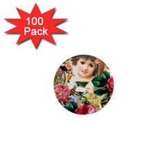 Little Girl Victorian Collage 1  Mini Magnets (100 Pack)