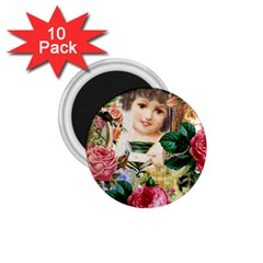 Little Girl Victorian Collage 1 75  Magnets (10 Pack)