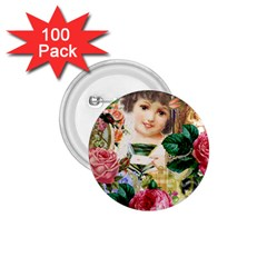 Little Girl Victorian Collage 1 75  Buttons (100 Pack)
