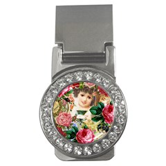 Little Girl Victorian Collage Money Clips (cz)