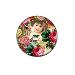 Little Girl Victorian Collage Hat Clip Ball Marker (10 Pack)