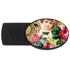 Little Girl Victorian Collage Usb Flash Drive Oval (4 Gb)