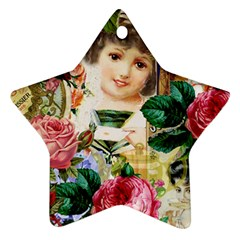 Little Girl Victorian Collage Star Ornament (two Sides)