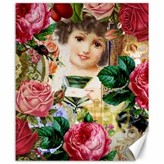 Little Girl Victorian Collage Canvas 8  X 10