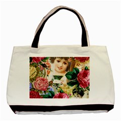 Little Girl Victorian Collage Basic Tote Bag (two Sides)