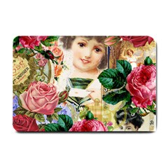 Little Girl Victorian Collage Small Doormat