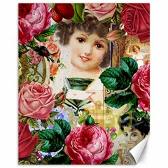 Little Girl Victorian Collage Canvas 11  X 14