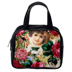 Little Girl Victorian Collage Classic Handbags (one Side)