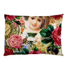 Little Girl Victorian Collage Pillow Case