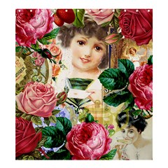Little Girl Victorian Collage Shower Curtain 66  X 72  (large)