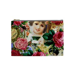 Little Girl Victorian Collage Cosmetic Bag (medium)