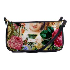 Little Girl Victorian Collage Shoulder Clutch Bags