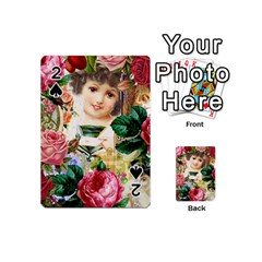 Little Girl Victorian Collage Playing Cards 54 (mini)