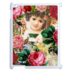 Little Girl Victorian Collage Apple Ipad 2 Case (white)