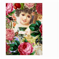 Little Girl Victorian Collage Large Garden Flag (two Sides)