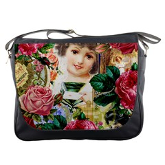 Little Girl Victorian Collage Messenger Bags