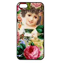 Little Girl Victorian Collage Apple Iphone 5 Seamless Case (black)