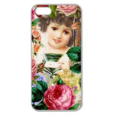 Little Girl Victorian Collage Apple Seamless Iphone 5 Case (clear)