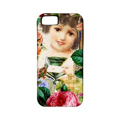 Little Girl Victorian Collage Apple Iphone 5 Classic Hardshell Case (pc+silicone)
