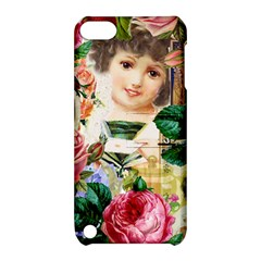 Little Girl Victorian Collage Apple Ipod Touch 5 Hardshell Case With Stand