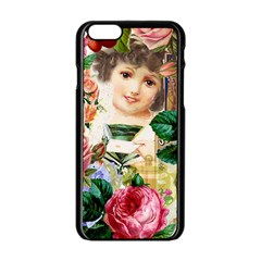 Little Girl Victorian Collage Apple Iphone 6/6s Black Enamel Case
